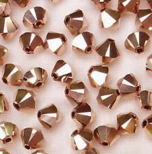 4mm Swarovski 5328 Xilion Rose Gold x2 - 10